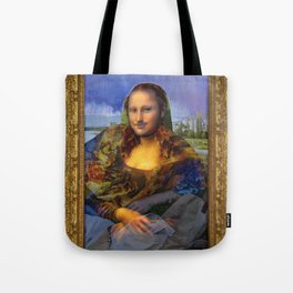 Mona (Kevin) Lisa : Satire + Contemporary Fine Art Tote Bag
