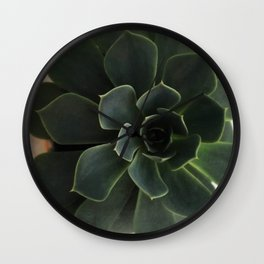 green shades poetry Wall Clock