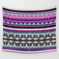 aztec Wall Tapestries featuring Aztec by Pinkspoisons