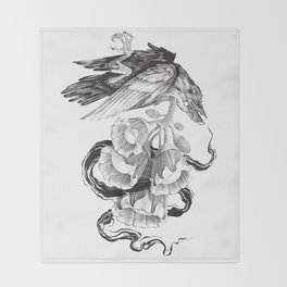 Soul of a Raven Throw Blanket