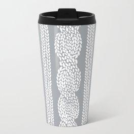 Cable Grey Metal Travel Mug