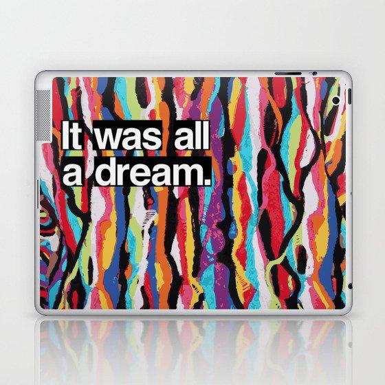 """It Was All A Dream"" Biggie Smalls Inspired Hip Hop Design Laptop & iPad Skin"