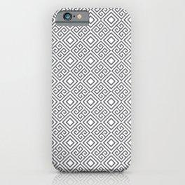 Beautiful Pattern #27 Silver Geometry Pattern iPhone Case