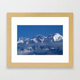 Annapurna, Himalayan Mountain Range seen from Gaunshahar - Greg Katz Framed Art Print