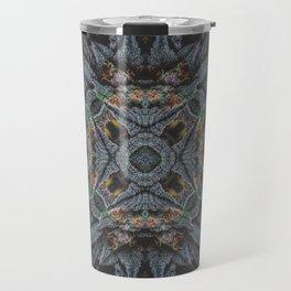 Purple Black Lime Design Travel Mug