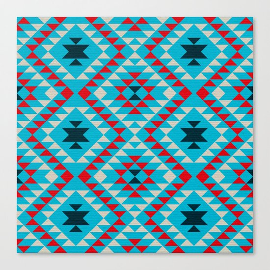 Geometric tribal pattern Canvas Print