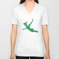 peter pan V-neck T-shirts featuring Peter Pan baby  by xiari