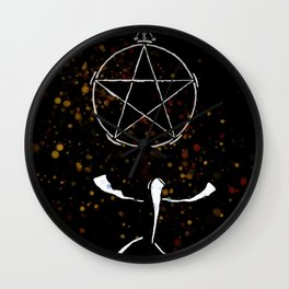 A Tarot of Ink 01 of Pentacles Wall Clock