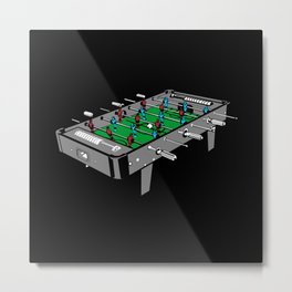 Foosball Table soccer Illustration Metal Print