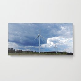 Windmill Park in Cap-Chat Metal Print