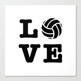 I Love Volleyball Canvas Print