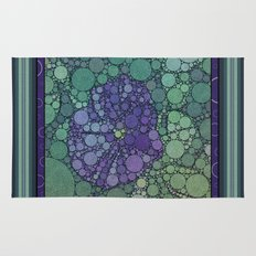 Percolated Purple Potato Flower Rug