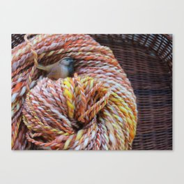 Fall in love with fall knitting Canvas Print