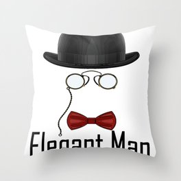 Elegant, Chic Man Who Stands Out From The Crowd Throw Pillow