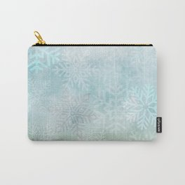 Snowflakes Gradient Carry-All Pouch
