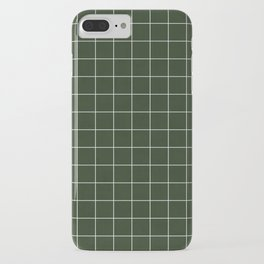 Small Grid Pattern - Deep Green iPhone Case
