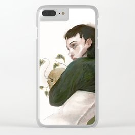 hello from the other side Clear iPhone Case