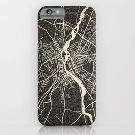 LEWISTON map Maine Ink lines 2 iPhone Case