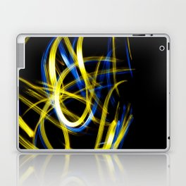 Abstract Yellow and Blue Light Effect Laptop & iPad Skin