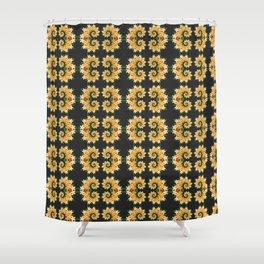 Tropical Floral Emblems Shower Curtain
