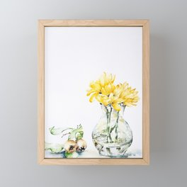 Yellow flowers and fruits Framed Mini Art Print