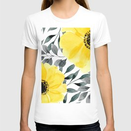 Big yellow watercolor flowers T-shirt