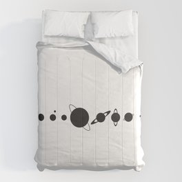 Planets silhouette Comforters