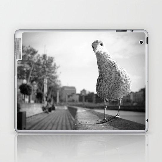 Inquisitive seagull Laptop & iPad Skin