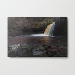 Lady Falls Sgwd Gwladus in full flow Metal Print