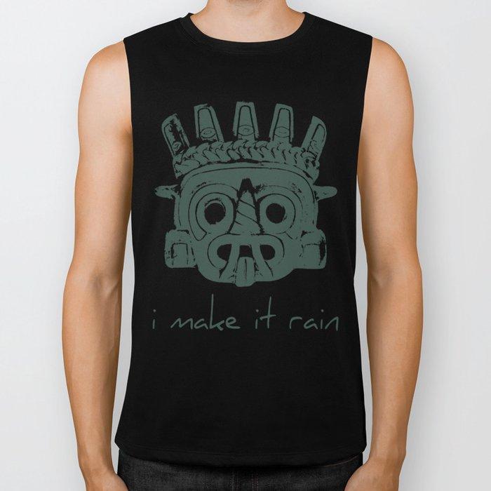 Tlaloc, Supreme God Of The Rains Biker Tank