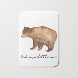 Be Brave Little One - Bear Watercolor Bath Mat