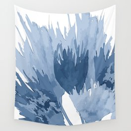 Indigo abstract watercolor flowers Wall Tapestry