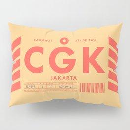 Baggage Tag D - CGK Jakarta Indonesia Pillow Sham