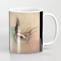 all seeing eye Mugs featuring All Seeing Eye by Fran Walding