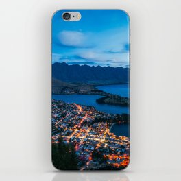 Queenstown City Lights from Skyline, New Zealand iPhone Skin