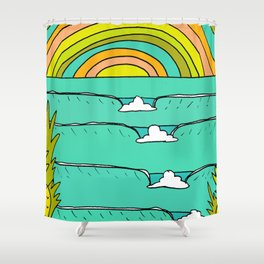 pineapple fields and endless summer vibes Shower Curtain