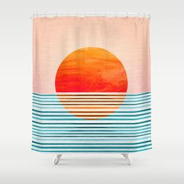 Minimalist Sunset III Shower Curtain