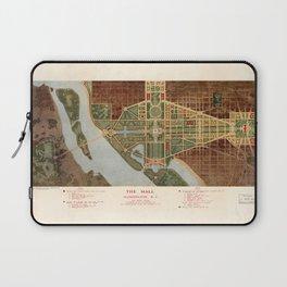 The Mall, Washington D.C. Map (1915) Laptop Sleeve