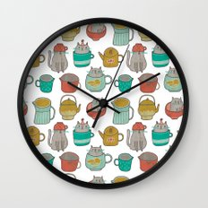 Pattern Project #5 / Cats and Pots Wall Clock