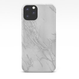Marble Love Silver Metallic iPhone Case