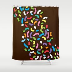 Chocolate Donut Sprinkles Shower Curtain