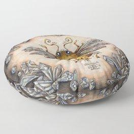 Crystal bumblebee Floor Pillow