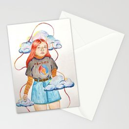 up in the clouds Stationery Cards