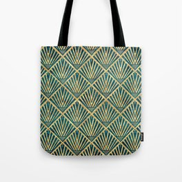 Stylish geometric diamond palm art deco inspired Tote Bag