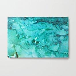 Abstract Aqua Metal Print