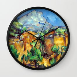 Paul Cézanne Mont Sainte-Victoire Wall Clock