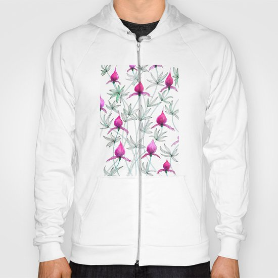 small purple flowers Hoody