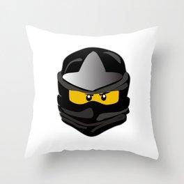 Ninjago face Cole Throw Pillow