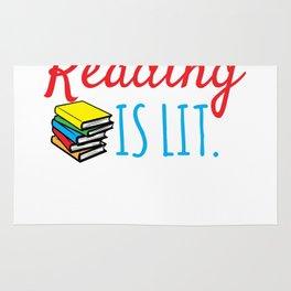 Reading Gift Reading Is Lit ELA Literacy Teacher Student Books Rug