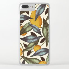 Lemons, Oranges & Pears Clear iPhone Case